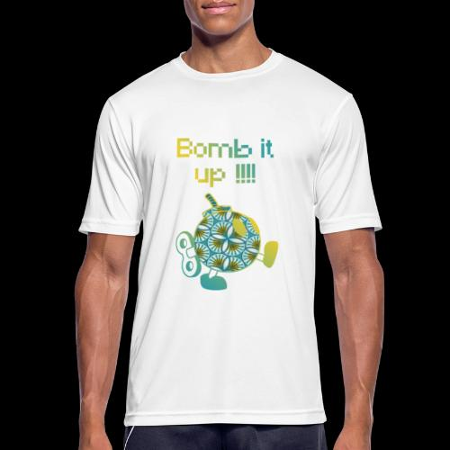 Bomb It Up : Yellow Power !!! - T-shirt respirant Homme