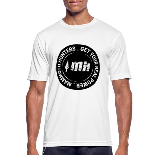 Mammoth Hunters / Círculo completo negro - Camiseta hombre transpirable