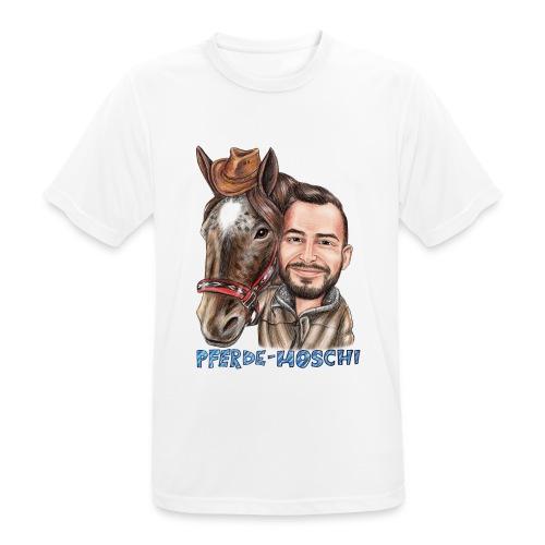 Pferde-Hoschi Kollektion hinten - Männer T-Shirt atmungsaktiv