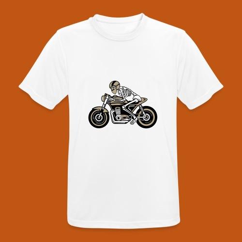 Cafe Racer Motorrad 05_dreifarbig - Männer T-Shirt atmungsaktiv