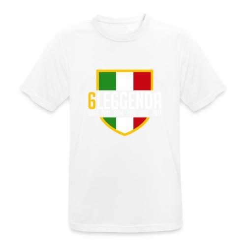 6LEGGENDA BLACK - Maglietta da uomo traspirante