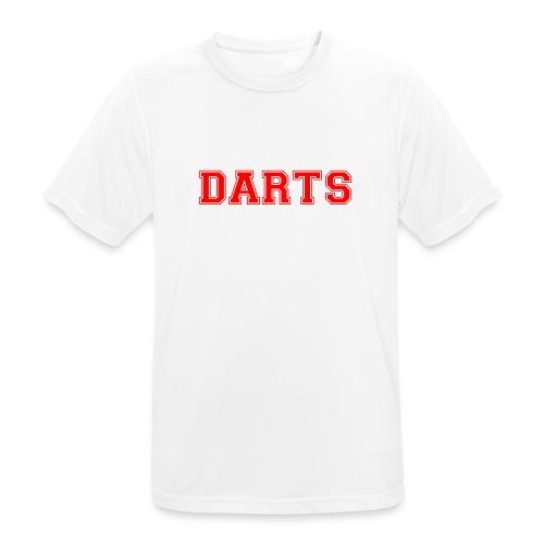 DARTS - Schriftzug in rot - Männer T-Shirt atmungsaktiv