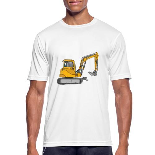 BAGGER, gelbe Baumaschine mit Schaufel und Ketten - Männer T-Shirt atmungsaktiv