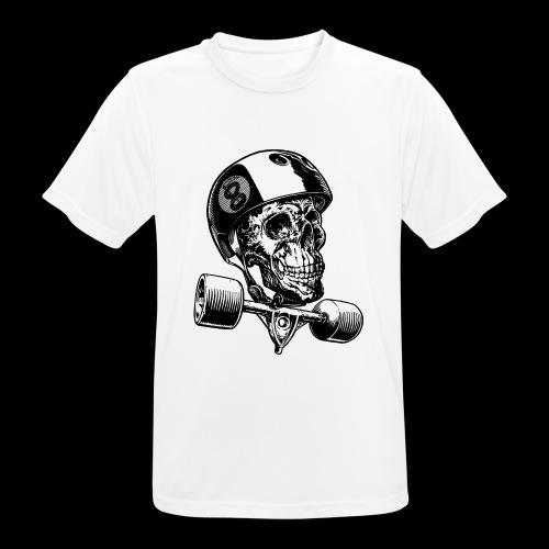 Skull Longboard Rider - positive print - T-shirt respirant Homme