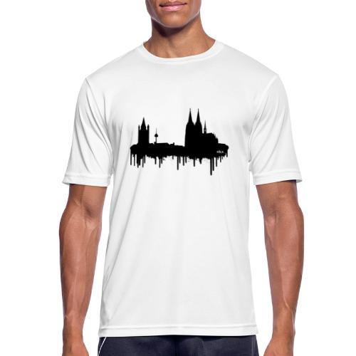Skyline Köln - Schwarz - Männer T-Shirt atmungsaktiv