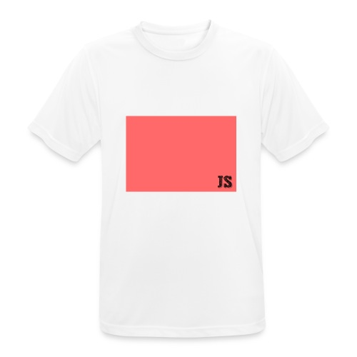 JustSquares Roze - Mannen T-shirt ademend actief