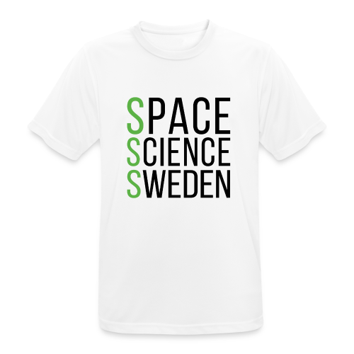 Space Science Sweden - svart - Andningsaktiv T-shirt herr