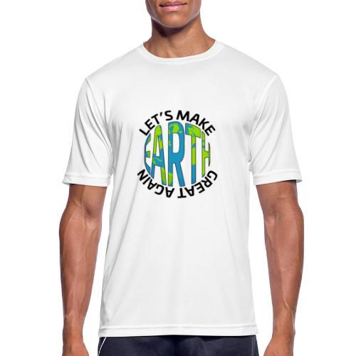 Let's Make Earth Great Again Square - Andningsaktiv T-shirt herr
