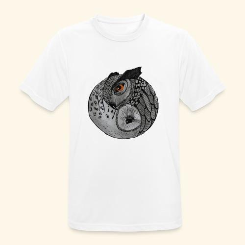 Chouette ying-yang - T-shirt respirant Homme
