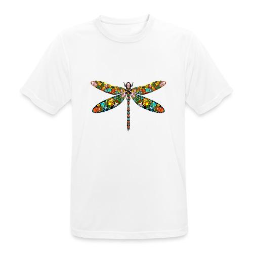 DRAGONFLY SKULL - Männer T-Shirt atmungsaktiv