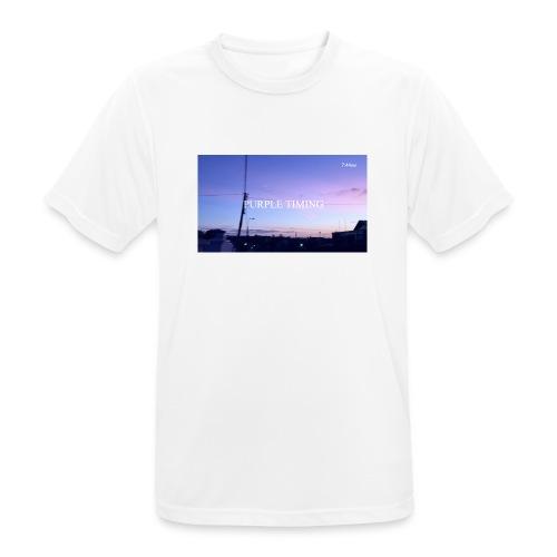 Purple Timing - Men's Breathable T-Shirt