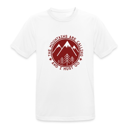 The Mountains are Calling - Men's Breathable T-Shirt