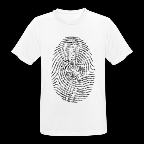 Tintenfisch Fingerabdruck schwarz - Männer T-Shirt atmungsaktiv