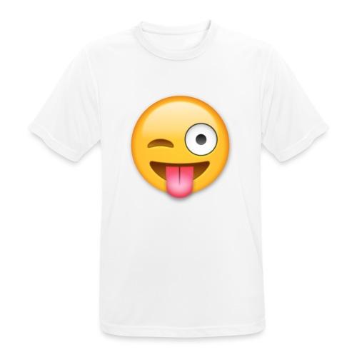 Winking Face - Männer T-Shirt atmungsaktiv