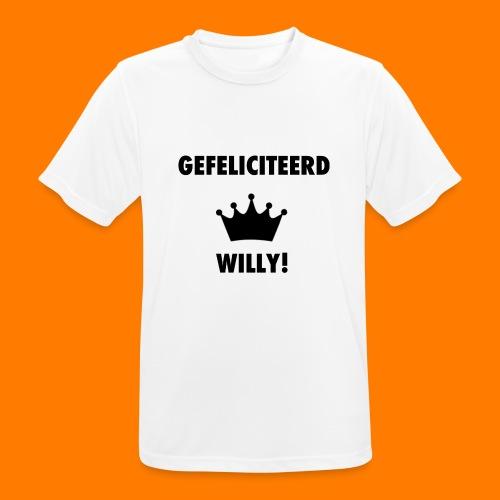Gefelicteerd Willy - Mannen T-shirt ademend actief