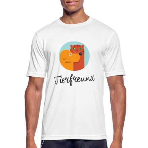 Tierfreund mit Schriftzug - Männer T-Shirt atmungsaktiv