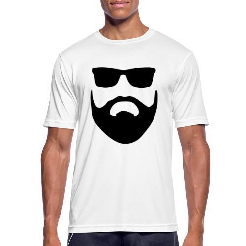 Bartman Silhouette - Männer T-Shirt atmungsaktiv