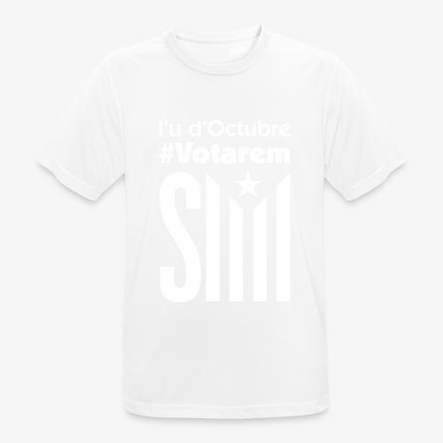 referendum 2017 blanc - Camiseta hombre transpirable