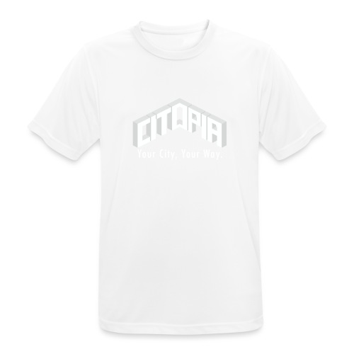 Logo with Slogan - Men's Breathable T-Shirt
