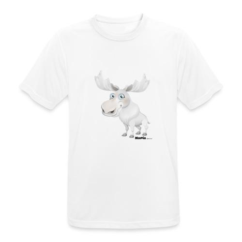 Albino elg - Pustende T-skjorte for menn