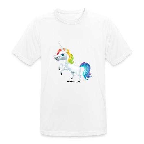 Rainbow yksisarvinen - miesten tekninen t-paita