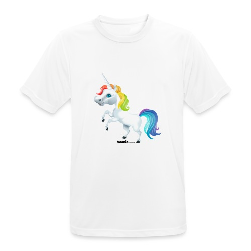 Regenboog eenhoorn - Mannen T-shirt ademend actief