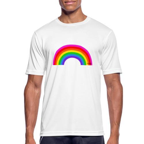 Rainbow - miesten tekninen t-paita