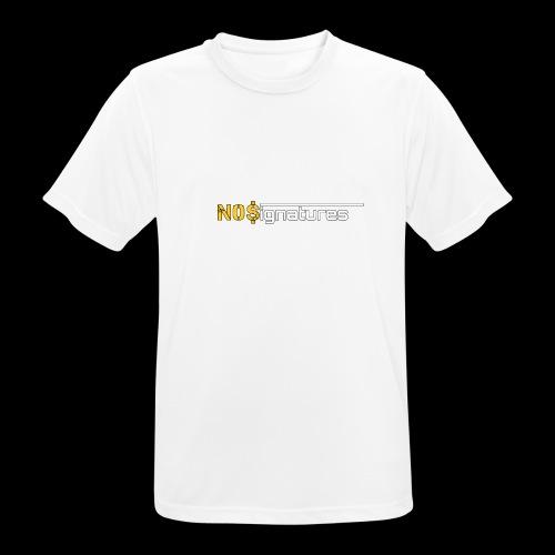 N0$ignatures (nessuna firma) - Maglietta da uomo traspirante