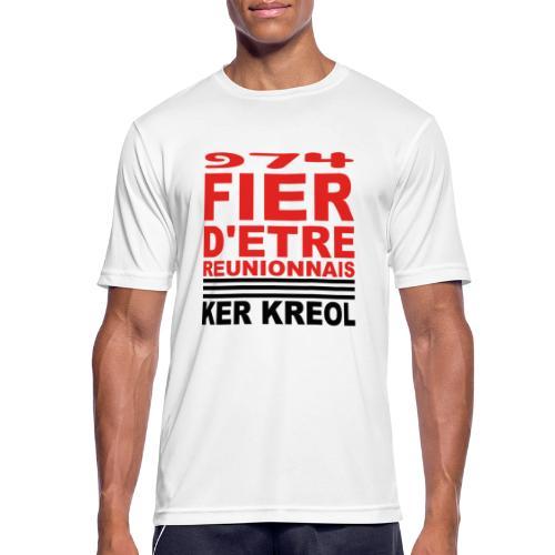 Fier d'etre reunionnais - T-shirt respirant Homme