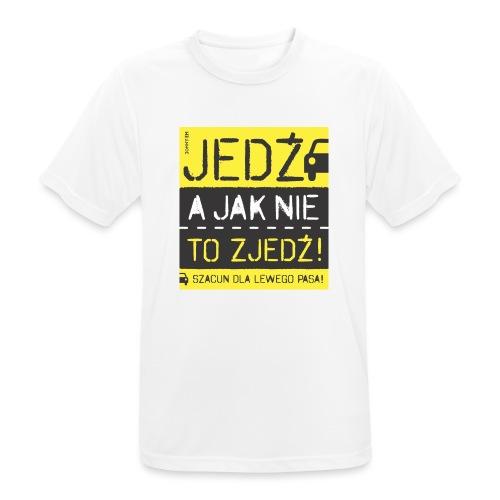 SZACUN DLA LEWEGO PASA! - Koszulka męska oddychająca