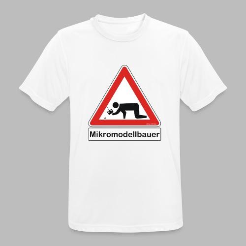Warnschild Mikromodellbauer Auto - Männer T-Shirt atmungsaktiv