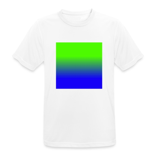 Linear pattern of green and blue - Men's Breathable T-Shirt