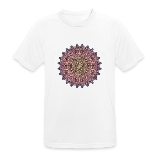 Mandala Sonnenuntergang - Männer T-Shirt atmungsaktiv