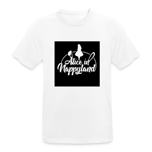Alice in Nappyland TypographyWhite 1080 - Men's Breathable T-Shirt