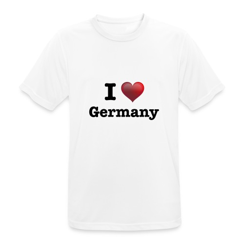 I Love Germany für echte Deutschland Fans - Männer T-Shirt atmungsaktiv