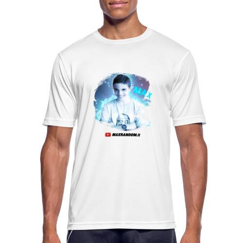 Max Random - Maglietta da uomo traspirante
