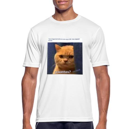 Cat nalgadas - Camiseta hombre transpirable