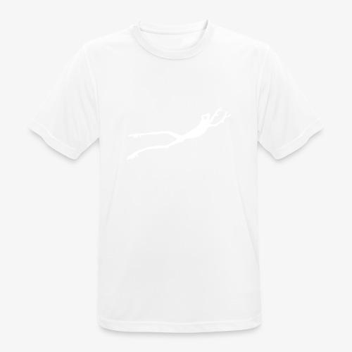 White Frog - Pustende T-skjorte for menn