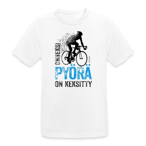 Onneksi pyörä on keksitty - Road bike b - miesten tekninen t-paita