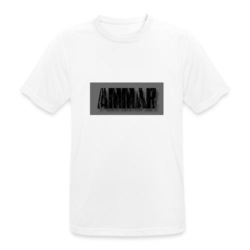 Ammar logo printed T-Shirt - Men's Breathable T-Shirt