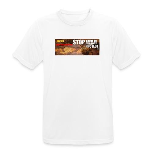 STOP WAR PROTEST - Men's Breathable T-Shirt