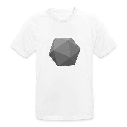 Grey d20 - D&D Dungeons and dragons dnd - miesten tekninen t-paita