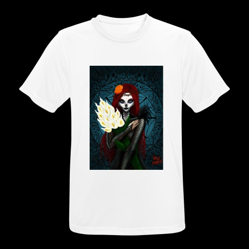 Death and lillies - Men's Breathable T-Shirt