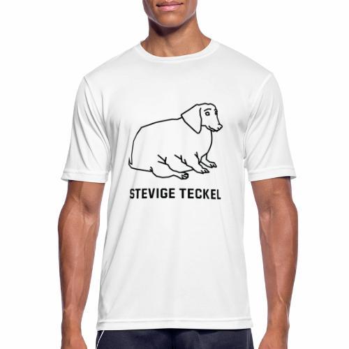 Stevige Teckel - mannen T-shirt ademend