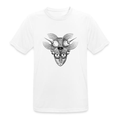 Androidenmaske 'Telepath' - Männer T-Shirt atmungsaktiv