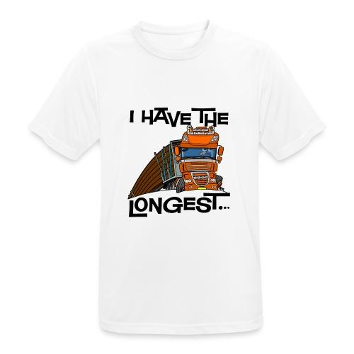 0793 D Truck I have the longest loads (FRONT+BACK) - Mannen T-shirt ademend