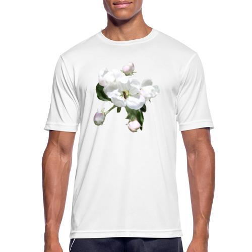 Omenankukka ja kukkakärpänen - miesten tekninen t-paita