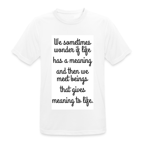 Phrase d'amour en anglais - T-shirt respirant Homme