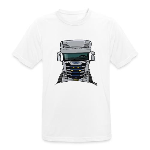 0814 S truck grill wit - Mannen T-shirt ademend