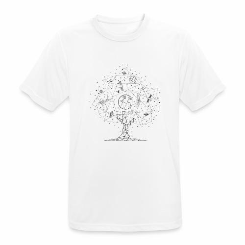 Interpretacja woodspace - Koszulka męska oddychająca